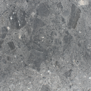 Close up picture of caribbean grey honed slab in order for customers to get a better look at the stone