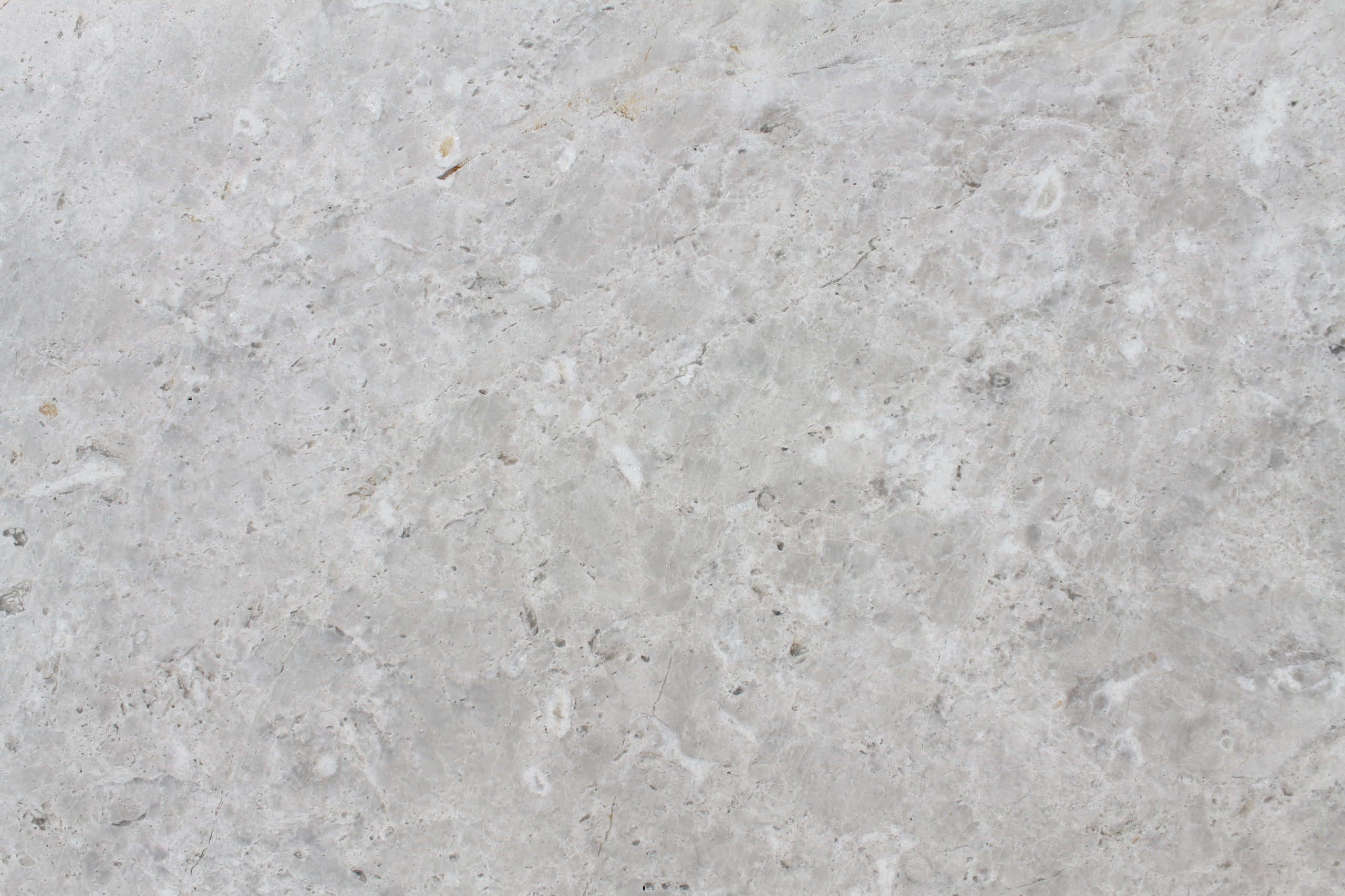 Close up picture of alanya grey honed slab in order for customers to get a better look at the stone